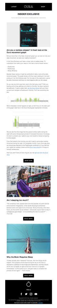 Insider newsletter - Oura